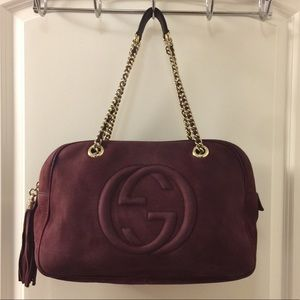 Gucci Soho Nubuck Leather Shoulder Bag